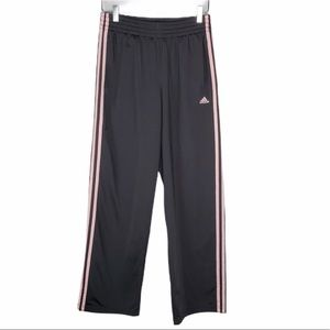 Adidas Polyester Track Jogger Pants w/Pink Stripes